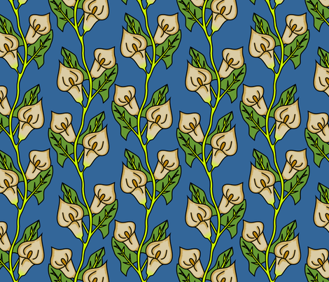 lillies fabric by spacefem on Spoonflower - custom fabric