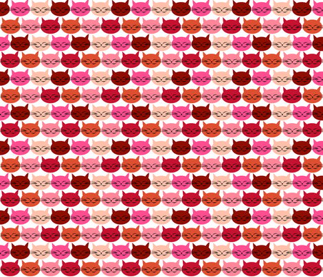 chat_c_est_toi_le_chat_rouge_S fabric by nadja_petremand on Spoonflower - custom fabric
