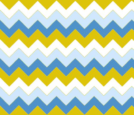 chevron_bleu_v_M fabric by nadja_petremand on Spoonflower - custom fabric