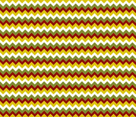 chevron_bleu_vert_S fabric by nadja_petremand on Spoonflower - custom fabric