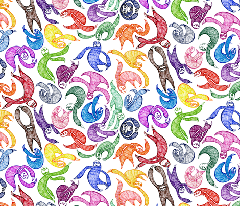 Gobs O' Sloths ( large) fabric by ceanirminger on Spoonflower - custom fabric