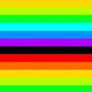 Rainbow stripes with black