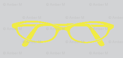 Cat eye glasses in yellow