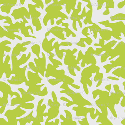 Coral Reef in Lime