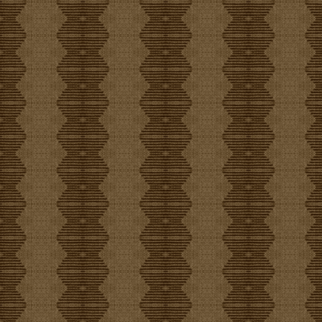Brancusi's Lover - brown, beige fabric by materialsgirl on Spoonflower - custom fabric