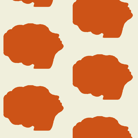 Beehive silhouette in orange fabric by mezzime on Spoonflower - custom fabric