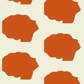Beehive silhouette in orange
