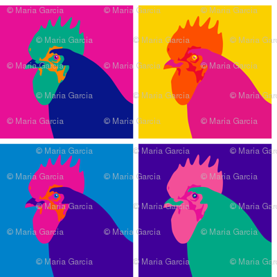Chicken Pop Art - Warhol Style