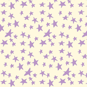 Hand Drawn Stars - Orchid and Lemon