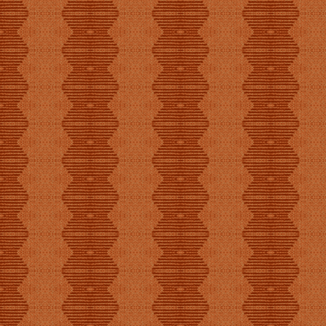 Brancusi's Lover - terra-cotta red, peach, beige fabric by materialsgirl on Spoonflower - custom fabric