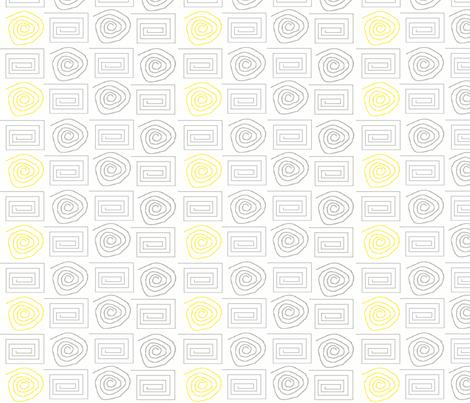 spiral_circ_sq grey yellow fabric by dsa_designs on Spoonflower - custom fabric