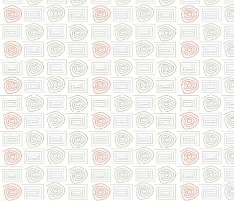 spiral_circ_sq grey salmon fabric by dsa_designs on Spoonflower - custom fabric