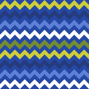 Colorful Chevron Blue