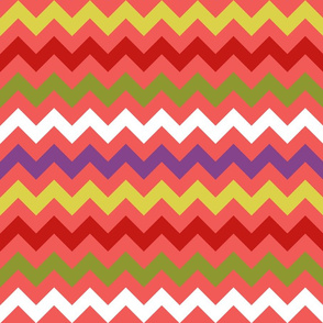 Colorful Chevron Coral
