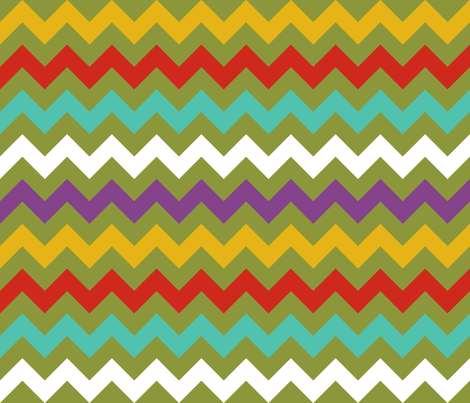 Colorful Chevron Lime fabric by littlerhodydesign on Spoonflower - custom fabric