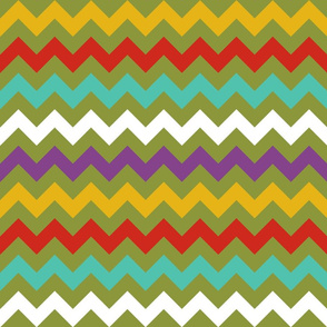 Colorful Chevron Lime