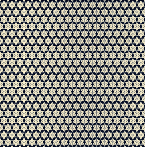 Snowflake Star Pattern 1863 fabric by maxje on Spoonflower - custom fabric