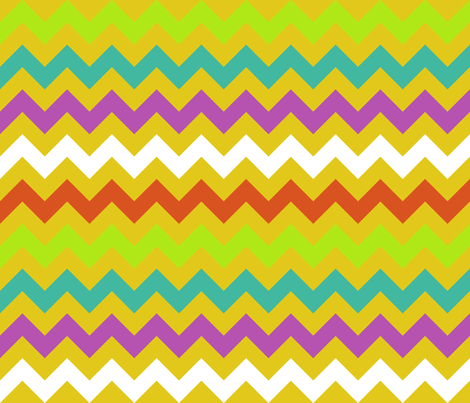 Colorful Chevron Yellow fabric by littlerhodydesign on Spoonflower - custom fabric