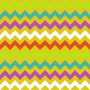 Colorful Chevron Yellow