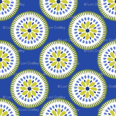 Sunburst Flower Blue
