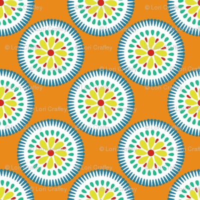 Sunburst Flower Tangerine