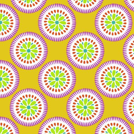 Sunburst Flower Yellow fabric by littlerhodydesign on Spoonflower - custom fabric