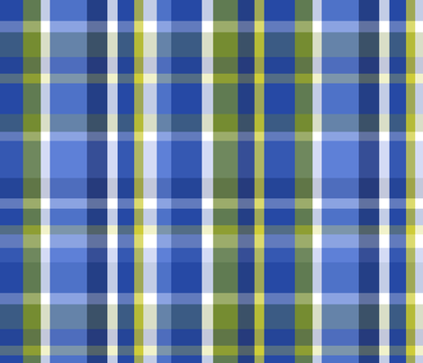 Madras Plaid Blue fabric by littlerhodydesign on Spoonflower - custom fabric