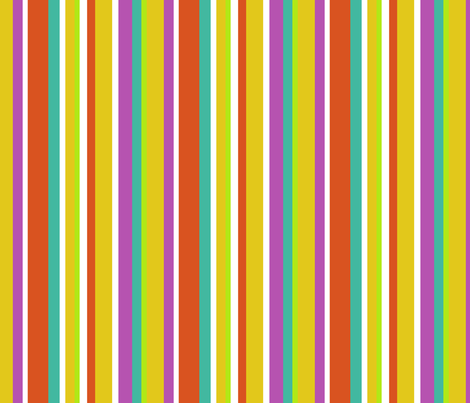 Clean Summer Stripe Yellow fabric by littlerhodydesign on Spoonflower - custom fabric