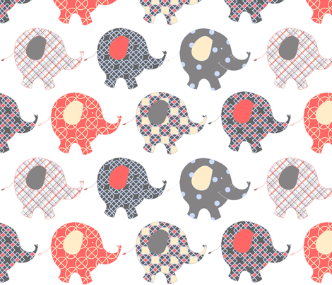 Baby Elephants fabric by mymagicmom on Spoonflower - custom fabric