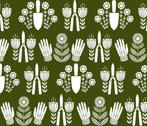 In the Garden fabric by molipop on Spoonflower - custom fabric