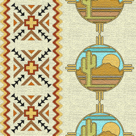 southwestern tan fabric by krs_expressions on Spoonflower - custom fabric