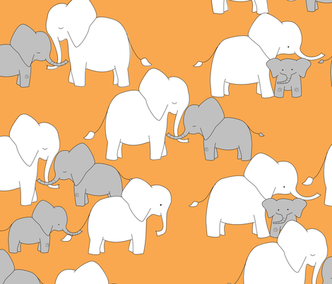 Elephant Babies fabric by meg56003 on Spoonflower - custom fabric