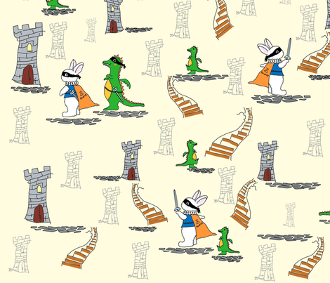 ztuwieto_Playing_Zorro fabric by sharoncs on Spoonflower - custom fabric