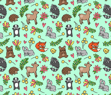 Spring Babes! fabric by my_zoetrope on Spoonflower - custom fabric