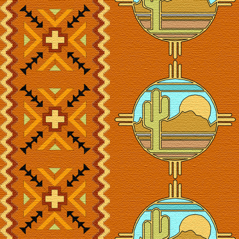 southwestern brown fabric by krs_expressions on Spoonflower - custom fabric