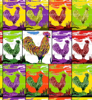 Cockerel Medley by Sylvie