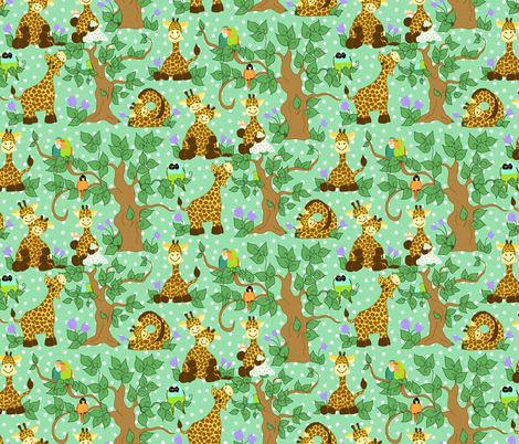 Baby Giraffes fabric by beebumble on Spoonflower - custom fabric