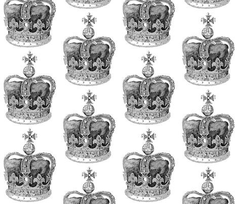 Crown II fabric by walkwithmagistudio on Spoonflower - custom fabric