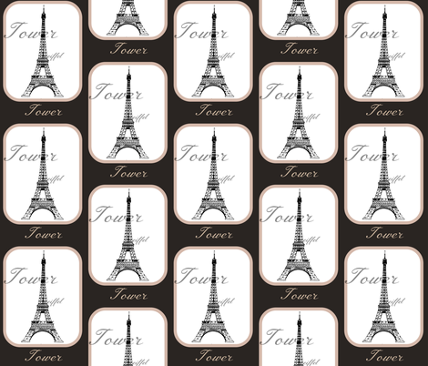 Eiffel Tower  fabric by walkwithmagistudio on Spoonflower - custom fabric