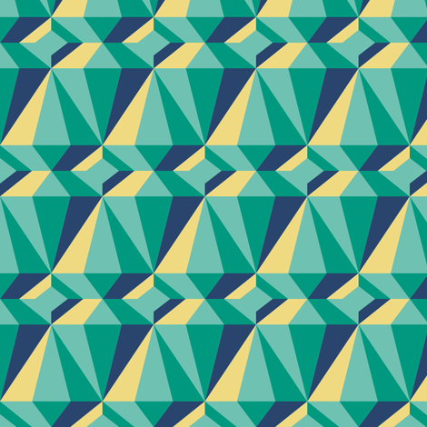 Diamonds on Emerald fabric by creative_merritt on Spoonflower - custom fabric