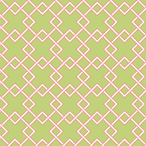 lattice green fabric by jillbyers on Spoonflower - custom fabric