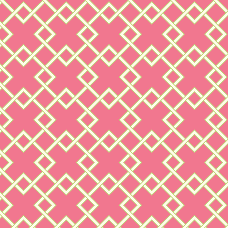 lattice pink fabric by jillbyers on Spoonflower - custom fabric