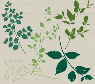 leaves / bone