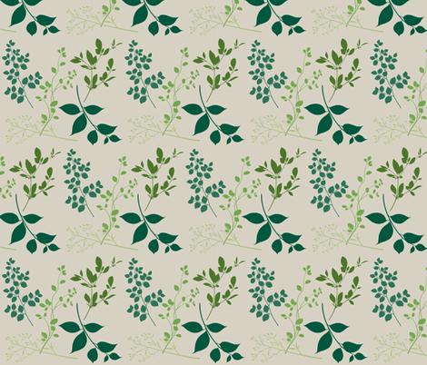 leaves / bone fabric by paragonstudios on Spoonflower - custom fabric