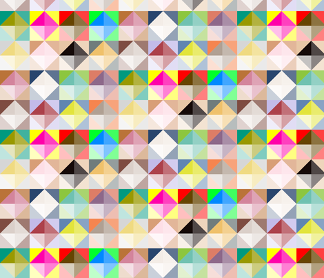 Multi Coloured Quilt fabric by creative_merritt on Spoonflower - custom fabric