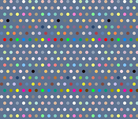 Dots on navy fabric by creative_merritt on Spoonflower - custom fabric
