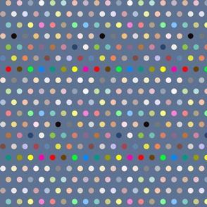 Dots on navy