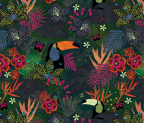 Flora and Fauna fabric by kimsa on Spoonflower - custom fabric