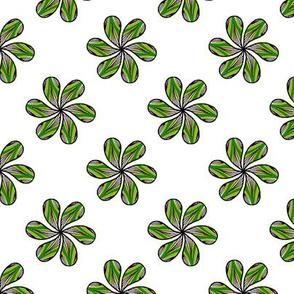 Rosace de feuilles