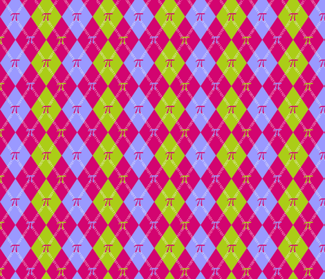 PiGyle Binary Argyle fabric by joojoostrees on Spoonflower - custom fabric